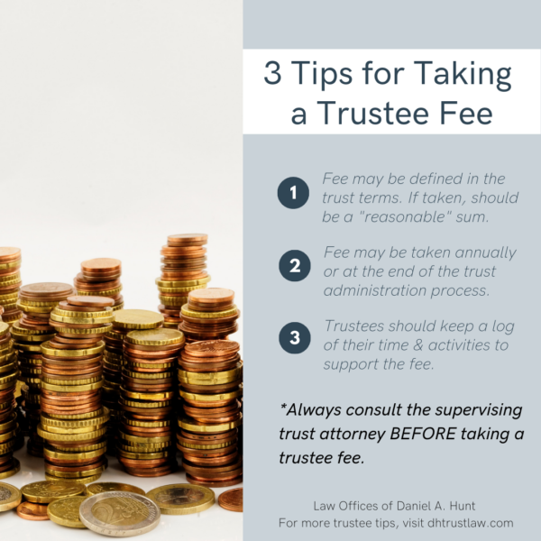 3 Tips for Taking a Trustee Fee