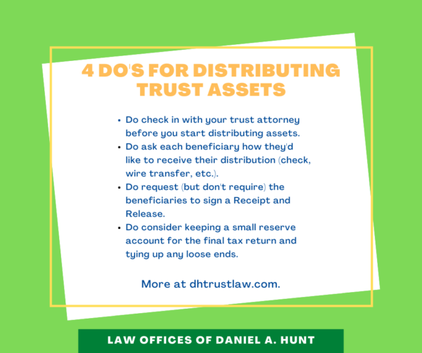 4 do's for distributing trust assets