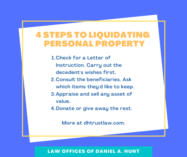 4 steps to liquidating personal property
