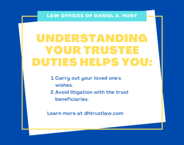 Understanding Your Trustee Duties