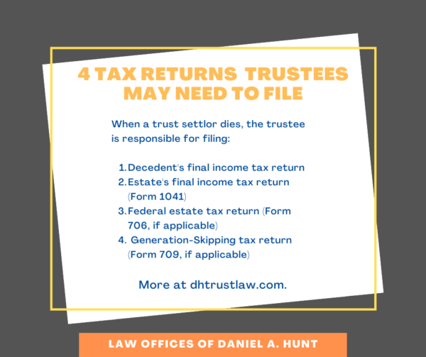 4 tax returns trustees may need to file