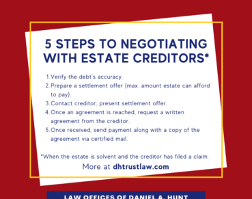 5 steps to negotiating with estate creditors