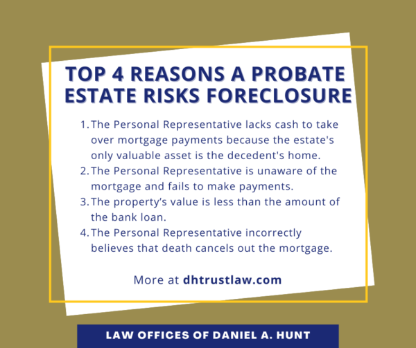 Top 4 Reasons a Probate Estate Risks Foreclosure