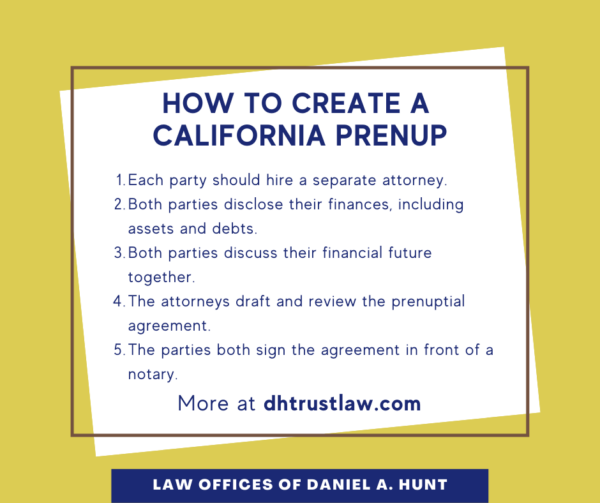 How to Get a CA Prenuptial Agreement
